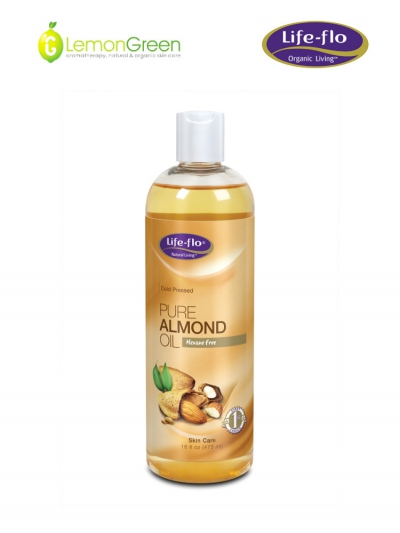Life Flo Pure Almond Oil(Cold Pressed) 473ml- For baby massage