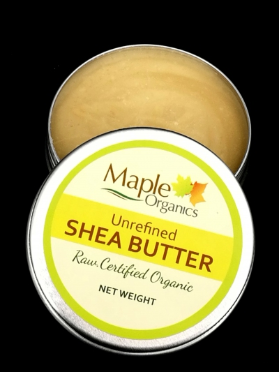 Maple Organic Virgin Unrefined (Organic) Raw Shea Butter 60g
