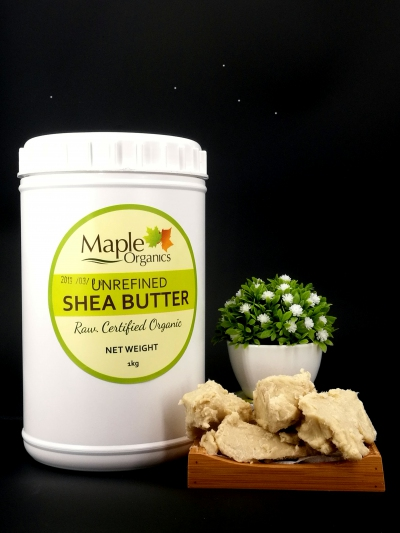 Maple Organics Virgin Unrefined (Organic) Raw Shea Butter 1kg