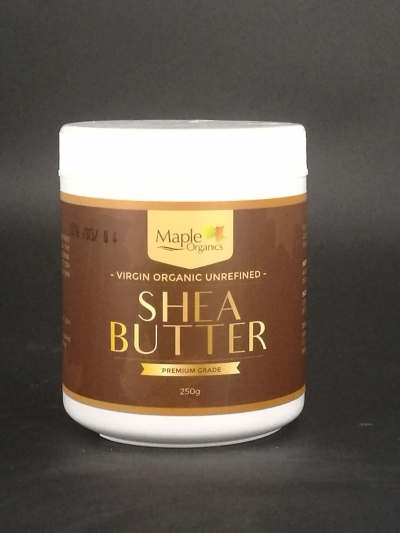 Maple Organic Virgin Unrefined (Organic) Raw Shea Butter 250g