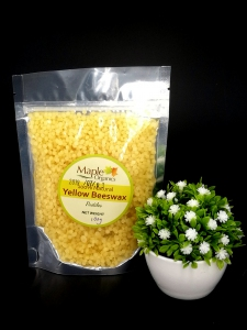 Maple Organics Natural Yellow Beeswax 100g
