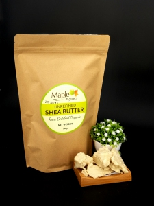 Maple Organic Virgin Unrefined (Organic) Raw Shea Butter 500g